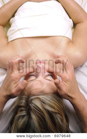 Young Woman Getting Massage