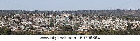 Panoramic Bird Eye View Of Ancient Walled City Of Jugol. Harar. Ethiopia.