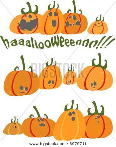 Hallowing pumpkins