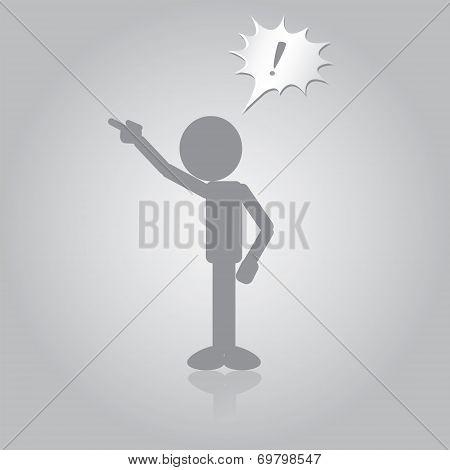 Flat Man Angry Boss Yelling