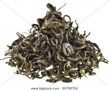 Heap pile of  Wild Tree Purpla Tea ,Yunnan , YE Sheng Cha ,  isolated on white background