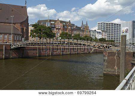 Hamburg - Jungfern Bridge Over The Toll Canal