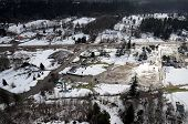 picture of snow-slide  - Mudslides scar the hillsides of Washington state following heavy rain on top of snow - JPG