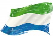 picture of freetown  - waving Sierra Leone grunge flag - JPG