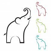 foto of clary  - Vector image of an elephant design on white background - JPG