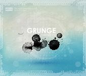 Постер, плакат: Grunge background in blue and white color Ink splat effect vector new color grunge style Grunge