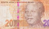 pic of nelson mandela  - Twenty South African Rand part of a banknote - JPG