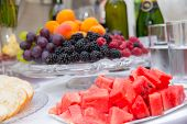 picture of catering  - Catering food table at a wedding party - JPG