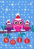 stock photo of snowy owl  - A cartoon style vector illustration - JPG