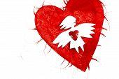 Постер, плакат: Ангел любви с сердцем