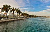 pic of lagos  - Lagos Baywalk Area with Palms - JPG