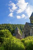 foto of armenia  - Photo of Haghartsin Monastery in Armenia  surrounded with forest - JPG