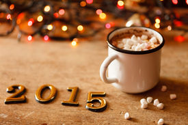 stock photo of sparking  - 2015 Happy New Year greeting card  - JPG