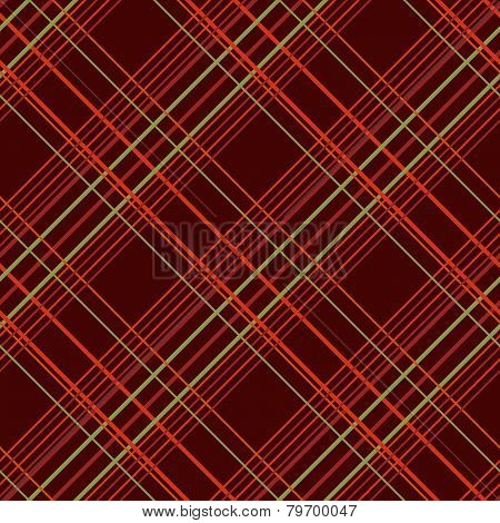Abstract Seamless Pattern with Plaid Fabric on a dark brown background.