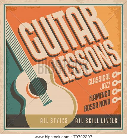Guitar - Vintage poster design