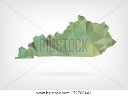Low Poly map of Kentucky state