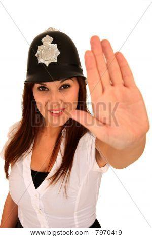 Gorgeous Brunette Policewoman