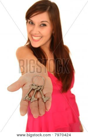 Real Estate Woman With Keys