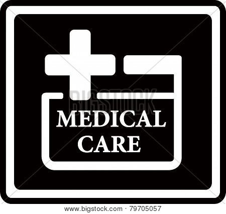 black medical care icon