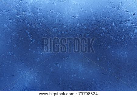Blue abstract thaw background