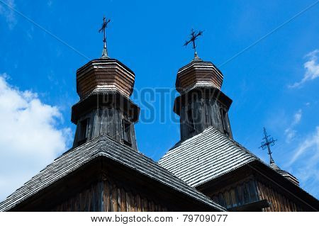 Coupolas Of Old Wooden Church