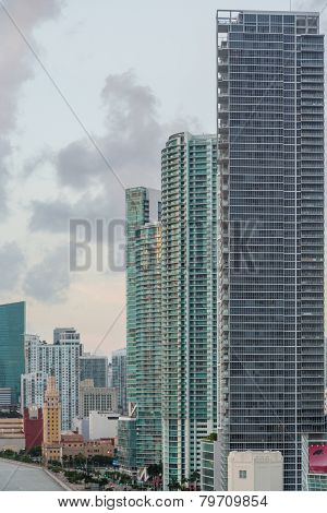 Aerial View Of Miami Downtown