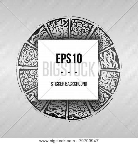 Round Patterned Mayar Background