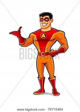 Handsome Superhero Welcome