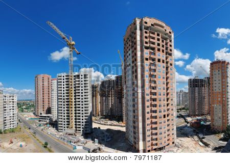 Building Of A New Living District In A City