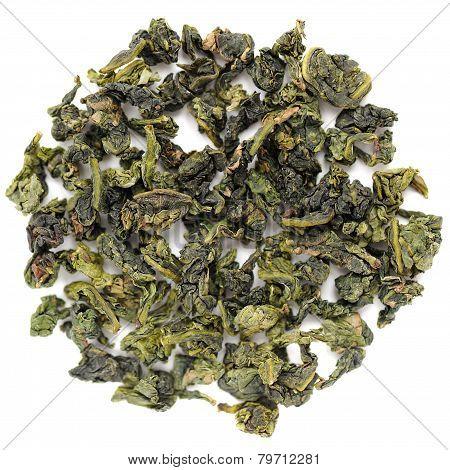 Benshan Oolong Chinese Tea Closeup Isolated