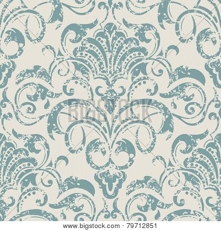 Vector damask seamless pattern element. Elegant luxury texture for wallpapers, backgrounds and page