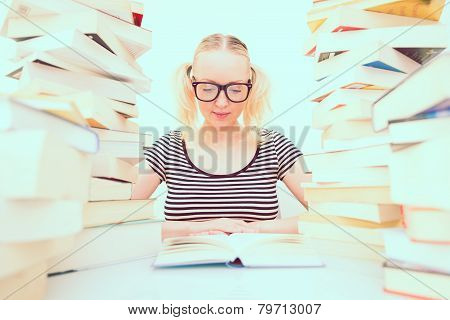 Student Reading Books