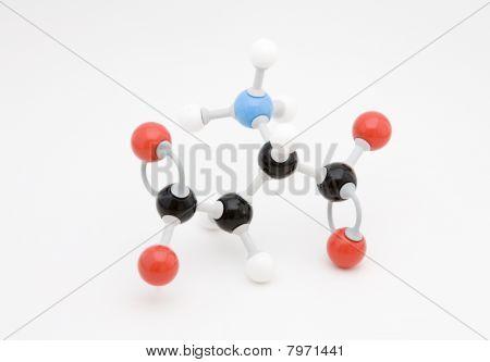 Aspartate Amino Acid Molecule
