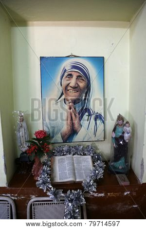 KOLKATA, INDIA - FEBRUARY 11: Shishu Bhavan, one of the houses established by Mother Teresa and run by the Missionaries of Charity in Kolkata, India on February 11, 2014.
