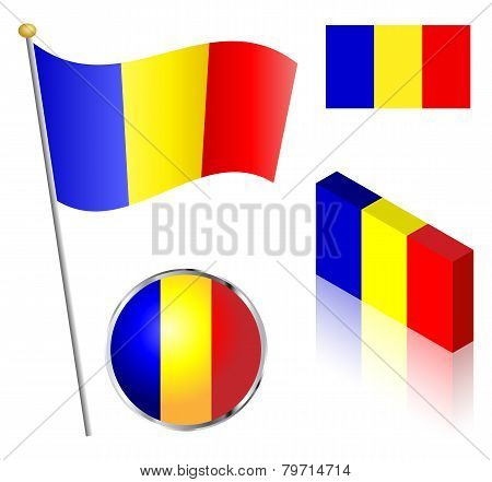 Romanian Flag Set