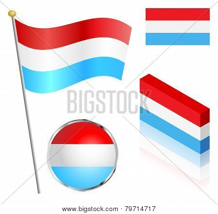 Luxembourg Flag Set