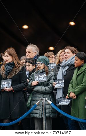 Strasbourg Holds Silent Vigil For Those Killed In Paris Attack