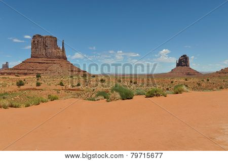 The Mittens in the Monument Valley