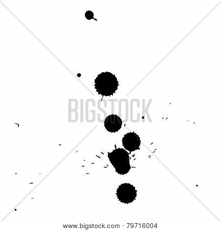 Black blobs with small and large drops