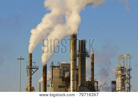 Factory Billowing Industrial Waste