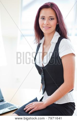 Attractive Red-haired Businessgirl