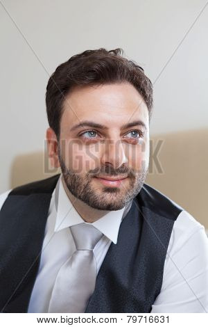 Young Italian Groom Before Marriage