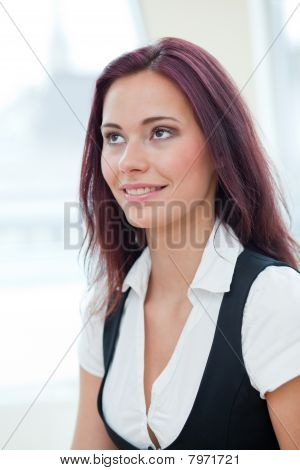 Smiling Female Employee