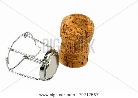 clasp and champagne corks photo icon for celebrations, enjoyment and alcohol consumption
