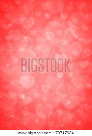 Light Red Heart Bokeh