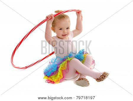 Tiny Tot Dancer Student With Hula Hoop