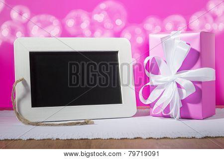 Slate Blackboard Gift Pink