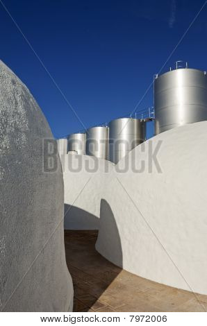 Tanks In A Winery