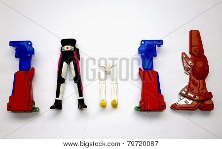 Legs of robot toys