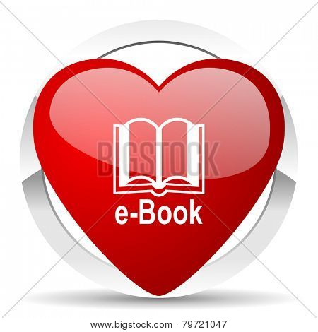 book valentine icon e-book sign